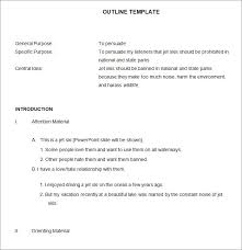 21 outline templates u2013 free sample example format download