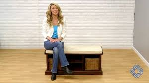 Entryway Storage Bench by Crosley Furniture Brennan Entryway Storage Bench Bellacor Youtube