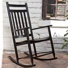 Outdoor Rocking Chairs Cracker Barrel Dixie Seating Indoor Outdoor Slat Rocking Chair Black Hayneedle