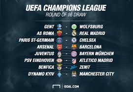 champions league last 16 draw arsenal to face barcelona chelsea