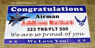 graduation vinyl vinyl 2ftx4ft custom personalized congratulations airman us air