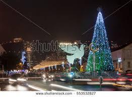 christmas tree hanukkah menorah form dove stock photo 545366230