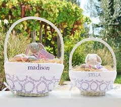 custom easter baskets for kids flower embroidery easter basket liners pottery barn kids
