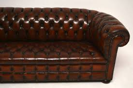 leather chesterfield sofa sale antique leather chesterfield sofa 1950 to 1960 england from