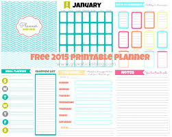 printable january 2016 weekly planner free printable planner pages menu planner calendar pages and more