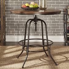 36 round bar height table berwick iron industrial round 36 42 inch adjustable counter height