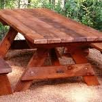 wooden picnic table and bench set woodcraft chandler az diy wood