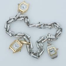 cartier bracelet charm images Cartier 18k gold watch charm bracelet dsf antique jewelry jpg