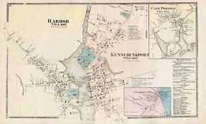 Portland Maine Map by 1856