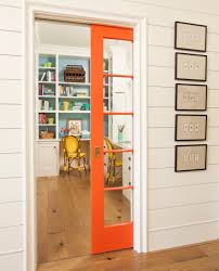 Home Interior Doors by Colorful Home Office With Orange Pocket Door Office Inspiration