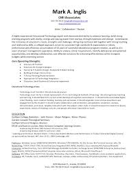 Ct Tech Resume Inglis Ed Tech Resume