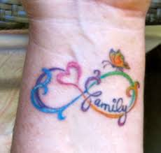 infinity family tattoo design photos pictures and sketches