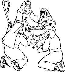 shepherds visit baby coloring journey bethlehem
