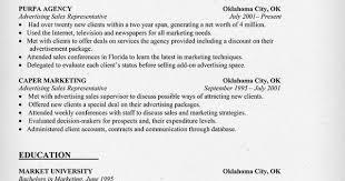 Advertising Sales Resume Examples by Advertising Representative Resume Sample Ad Sales Resume
