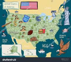 Maps United States Of America by Cartoon Map United States America Stock Vector 531958975