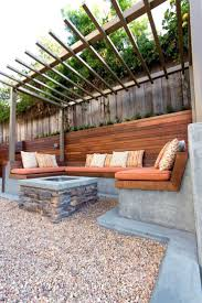 hgtv shows you a contemporary backyard seating area with built in