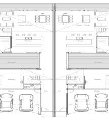 duplex plans for small lots narrow lot duplex house plans small