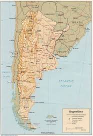 Bariloche Argentina Map Argentina Physical Map South America