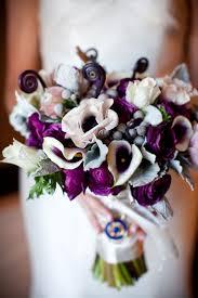 wedding flowers etc wedding bouquet purple wedding corners