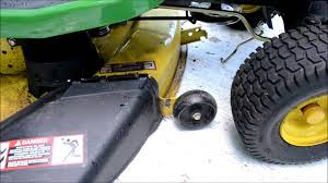 John Deere 48c Mower Deck Belt by How To Reattach A Mower Deck On A John Deere Lawn Mower Youtube