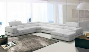 Leather Sectional Sofas With Chaise Lounge by Divani Casa Phantom Modern White Bonded Leather Sectional Sofa W