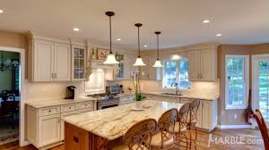 granite countertop decorations on top of kitchen cabinets