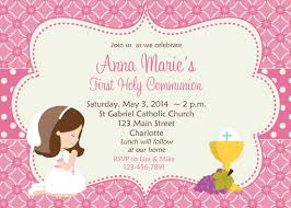 communion invitation holy communion invitation card design with pink color designed