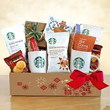 gourmet coffee gift baskets a starbucks christmas coffee christmas gift basket