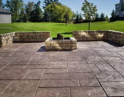 Cost Of Concrete Patio by Stamped Concrete Patio With Fire Pit Cost Home Design Ideas