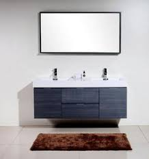 63 inch double bathroom vanity with choice of top in high gloss