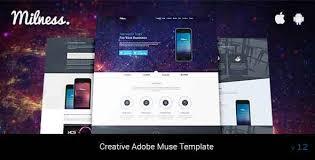 adobe muse mobile templates milness showcase mobile app adobe muse template by liyalanddesigns