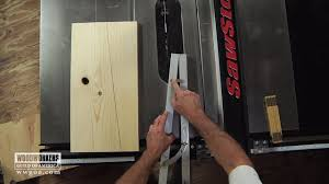 how to cut angles on a table saw using a taper guide