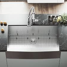 Vigo Kitchen Sink Shop Vigo 36 In X 22 25 In Stainless Steel Single Basin Apron