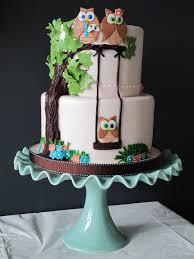 owl baby shower cake i u0027m not big on fondant but i love this