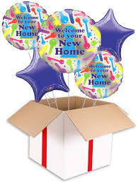 welcome home balloon bouquet welcome to your new home balloon helium balloons delivered uk