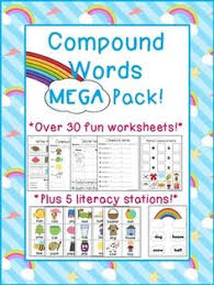compound words literacy stations and fun worksheets galore over