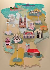 Berlin Germany Map by Germany Map With Landmarks Vector Image 1614518 Stockunlimited