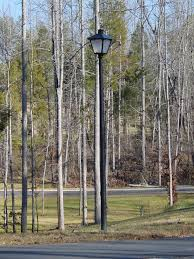 Backyard Light Pole by Outdoor Lighting Information Residential Rutherford Electric