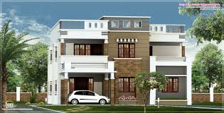 eco friendly houses 2600 sq feet flat roof villa elevation