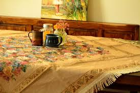 Coffee Table Cloth by Tache Home Fashion Colorful Country Rustic Floral Morning