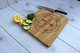 personalized wedding cutting board buy a crafted personalized cutting board engraved cutting