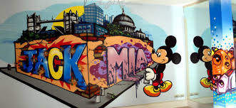 Football Wall Murals by Graffiti Bedroom Walls From A Contemporary Street Artist