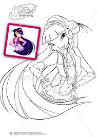 Club Musa Harmonix Coloring Pages Winx Club Musa Coloring Pages