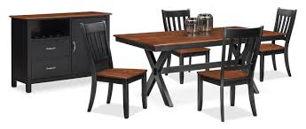 buy dining room table the nantucket dining collection black and cherry value city