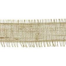 jute ribbon 2 1 2 ivory satin burlap wired edge ribbon shop hobby