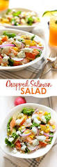 easy salmon salad with greek yogurt dill dressing fit foodie finds