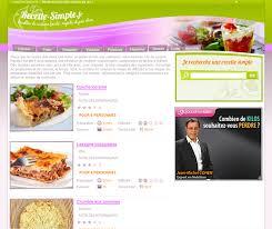 site de recette cuisine création site cuisine réalisation site de recettes cuisine