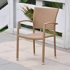 Faux Wicker Patio Furniture - shop international caravan barcelona honey wicker stackable patio