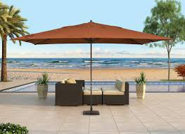 Rectangle Patio Umbrella Modern Wicker Outdoor Lounging Chair Large Rectangle