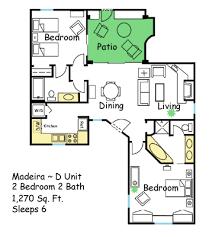 villas of sedona floor plan 2br floor plan madeira arizona spring training condo rentals